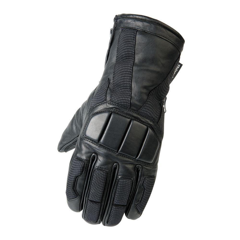 Raider Leather Snow Large Glove in Black