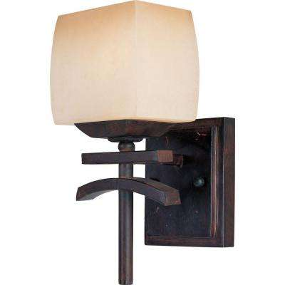 Asiana 1-Light Roasted Chestnut Sconce