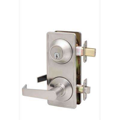Grade 2 RCL Satin Stainless Cylindrical Interconnet Passage Hall/Closet Door Lever
