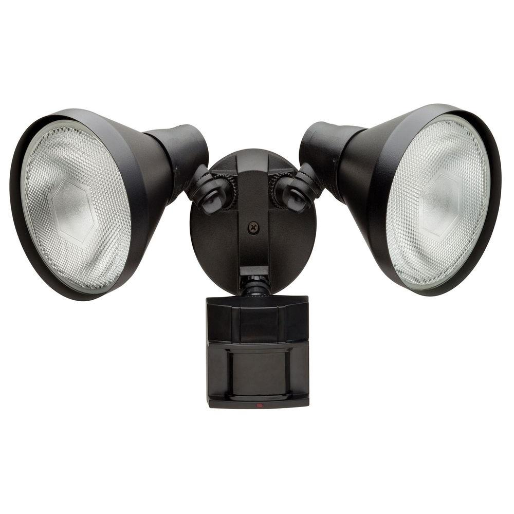 Defiant 180 Degree Black Motion-Sensing Outdoor Security Light-DF ...