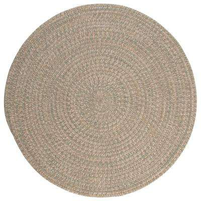 Cicero Palm 8 ft. x 8 ft. Round Area Rug