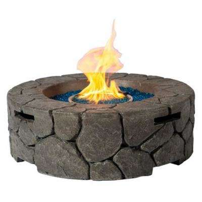 28 in. Round MGO Stone Propane Fire Pit
