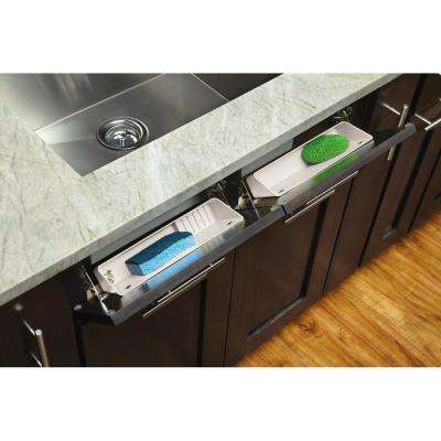 14 in. White Polymer LD Tip-Out Accessory Tray