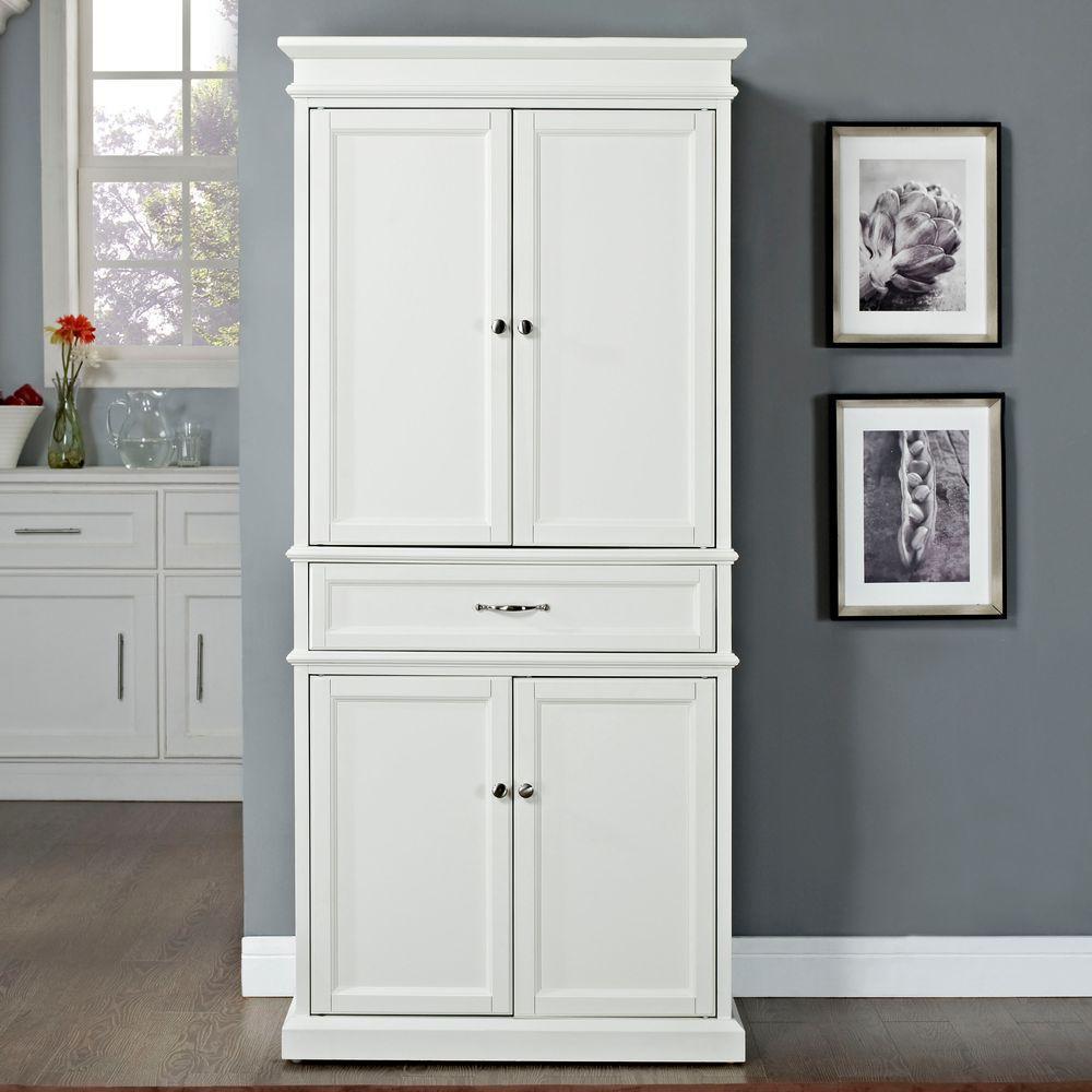 Crosley Parsons White Storage Cabinet