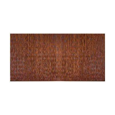 Ripple Vertical 96 in. x 48 in. Decorative Wall Panel in Oil Rubbed Bronze