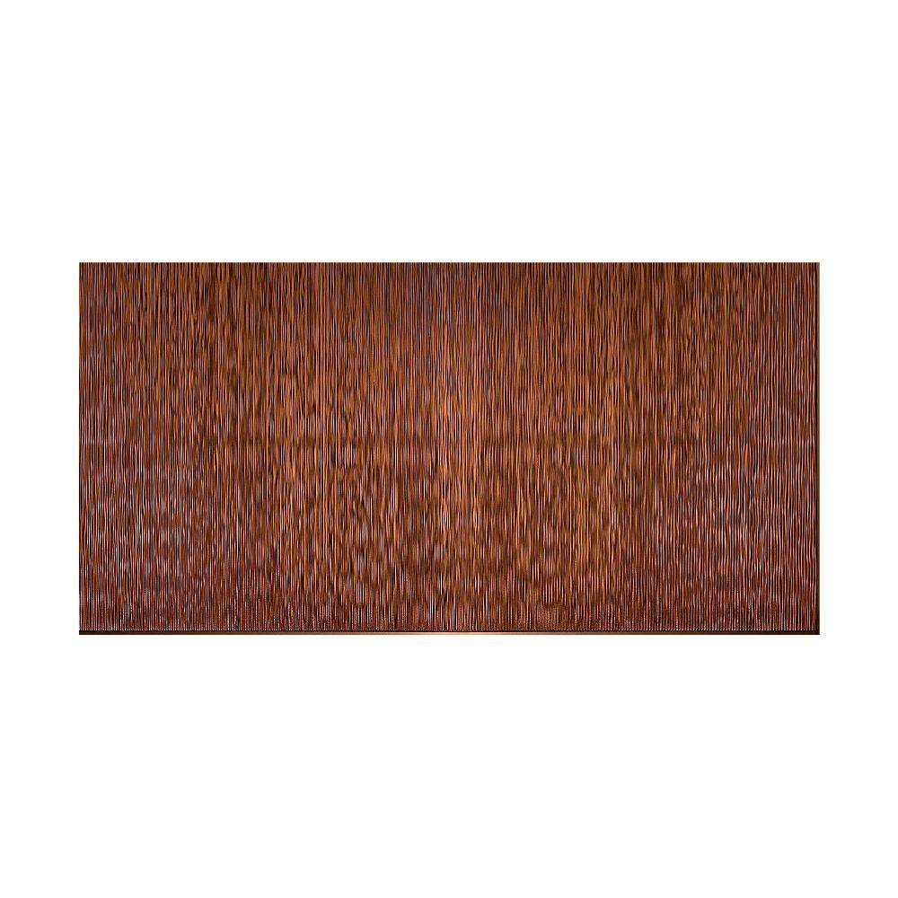 Fasade Ripple Vertical 96 in. x 48 in. Decorative Wall Panel in Oil Rubbed Bronze