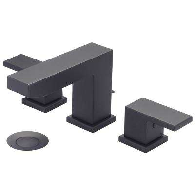 Mod 8 in. Widespread 2-Handle Bathroom Faucet in Matte Black