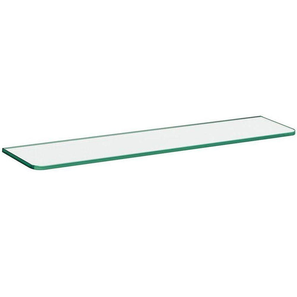 Dolle 24 in. x 5 in. x 5/16 in. Standard Line Shelf in Clear Glass