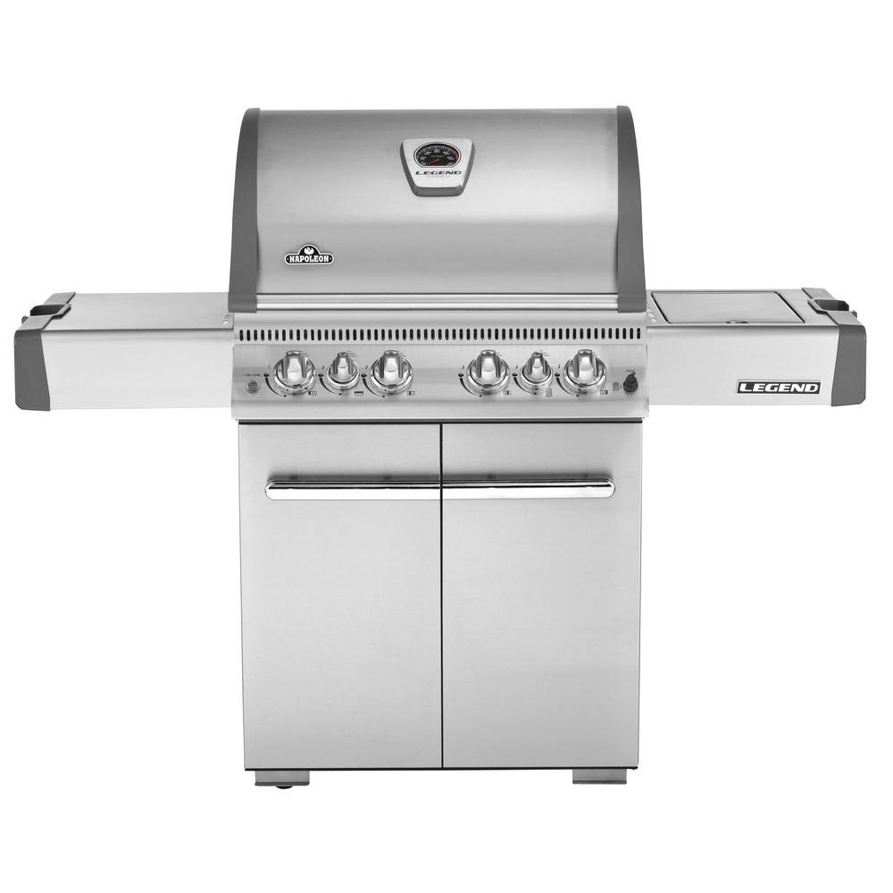 NAPOLEON 4-Burner Stainless Steel Propane Gas Grill with Infrared Rear and Side Burner
