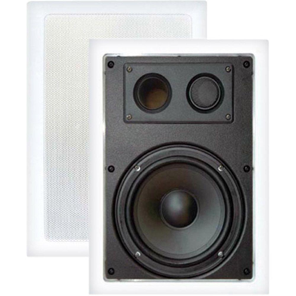 Pyle 8 in. 400-Watt 2-Way In-Wall Enclosed Speaker with Directional Tweeter
