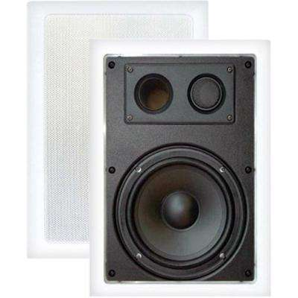 8 in. 400-Watt 2-Way In-Wall Enclosed Speaker with Directional Tweeter
