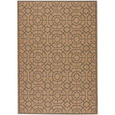 Laguna Cocoa/Black 8 ft. x 11 ft. Area Rug