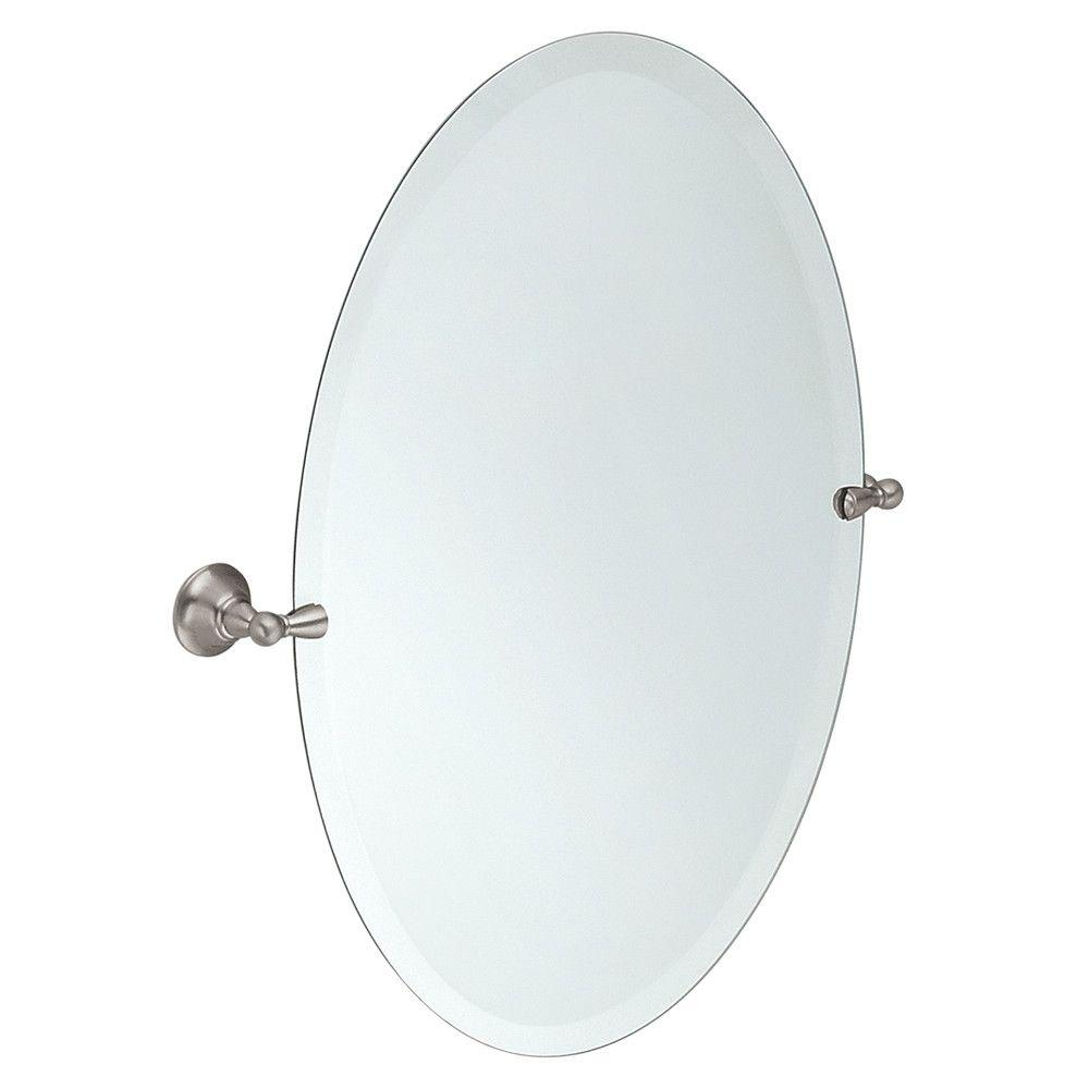 MOEN Sage 26 in. x 23 in. Frameless Pivoting Wall Mirror in Spot Resist Brushed Nickel