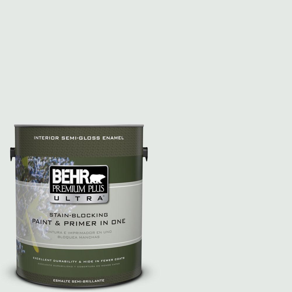 1-gal. #BL-W7 Wind Chill Semi-Gloss Enamel Interior Paint