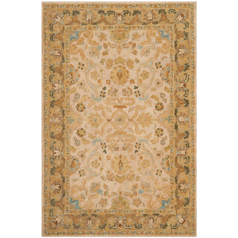 Anatolia Ivory/Brown 6 ft. x 9 ft. Area Rug
