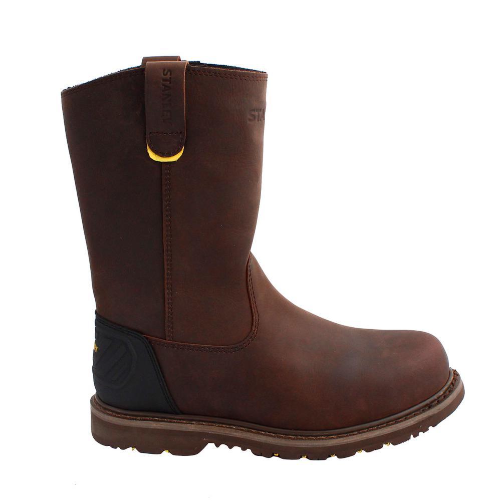 Dropper 2.0 Men 12 in. Size 10 Brown Leather Steel Toe Wellington Work Boot
