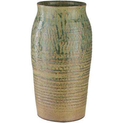 Salia 12.5 in. Ceramic Decorative Vase in Green