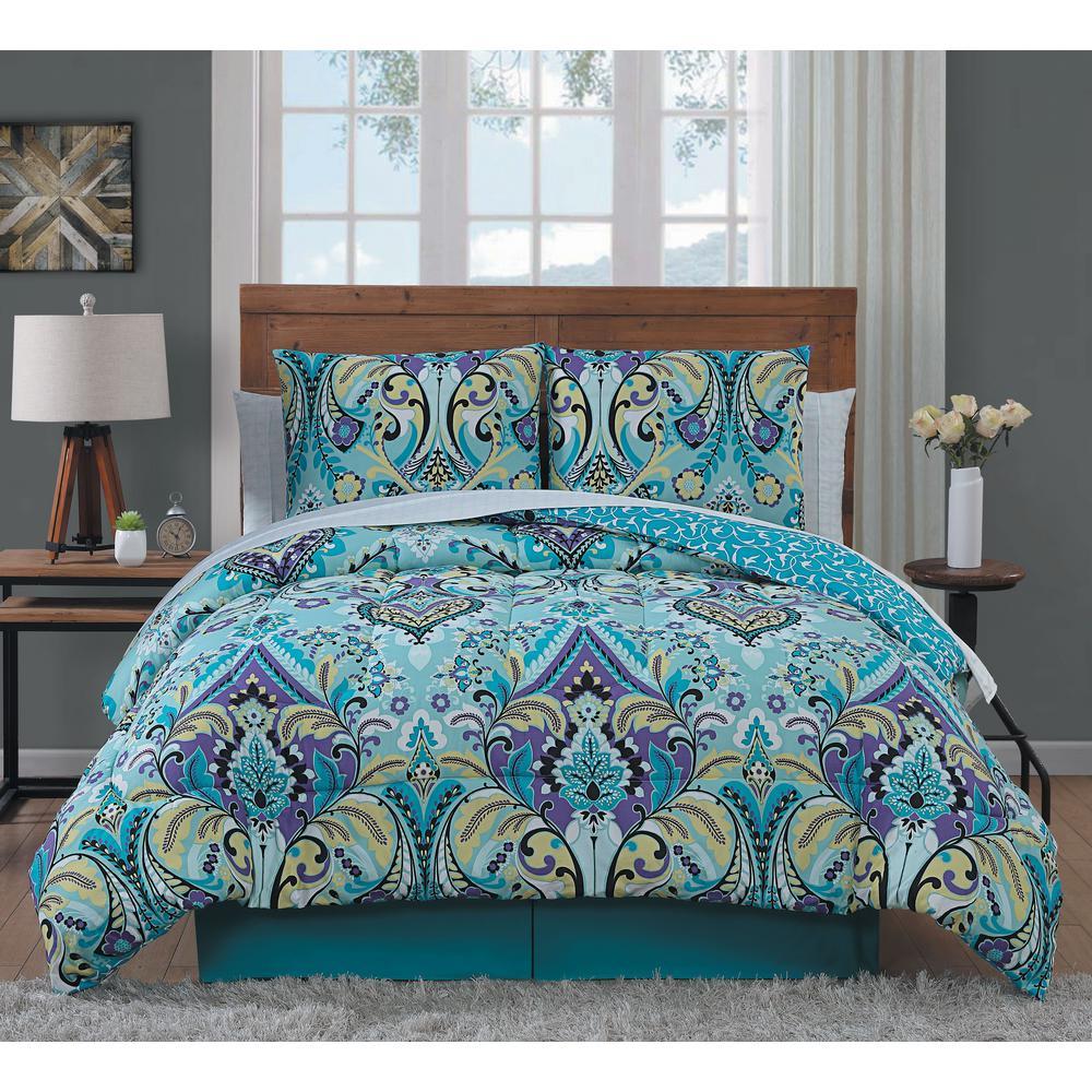 Misha 8-Piece Mint Queen Comforter Set