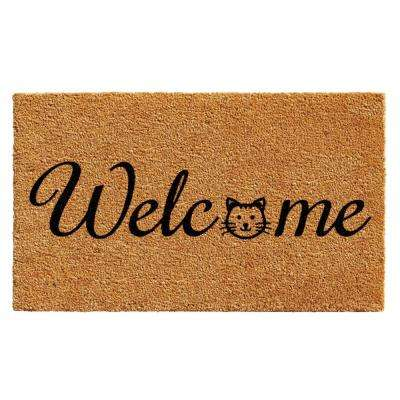 Kitty Welcome Door Mat 17 in. x 29 in.