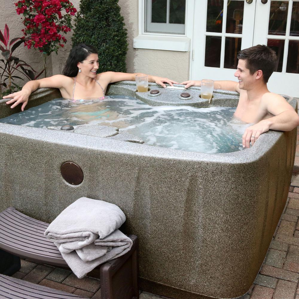 AquaRest Spas Select 150 4-Person Plug and Play Hot Tub with 12 ...