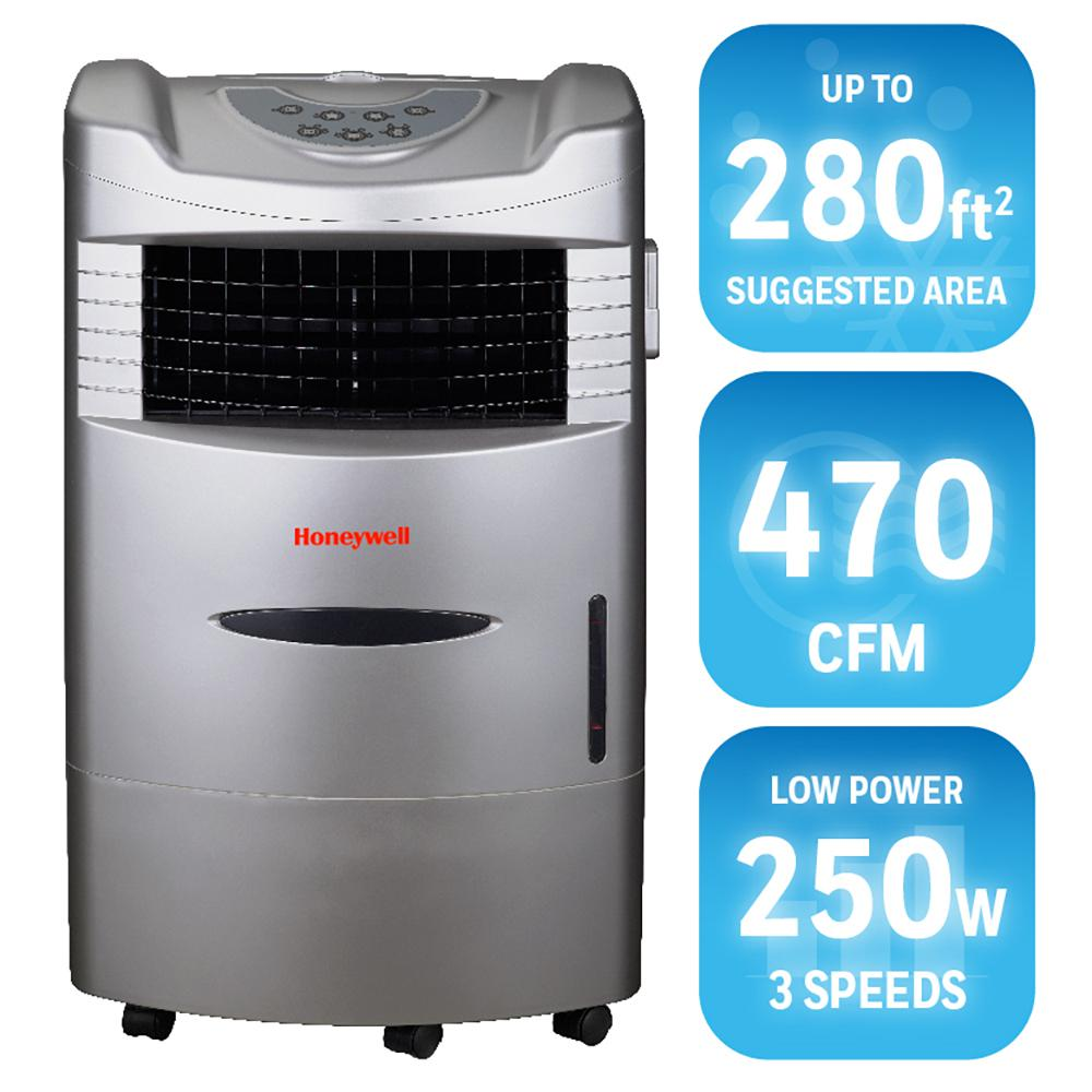 Superb Honeywell 470 CFM 4 Speed Indoor Portable Evaporative Cooler With Remote  Control For 280 Sq. Ft. CL201AE   The Home Depot