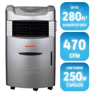 470 cfm 4speed indoor portable evaporative cooler with remote control for 280 sq