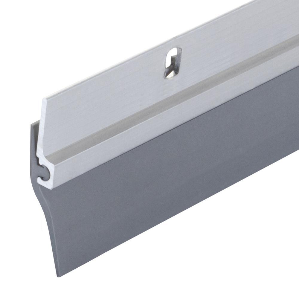 M-D Building Products 1-1/4 in  x 36 in  Single-Fin Aluminum and Vinyl Door  Sweep