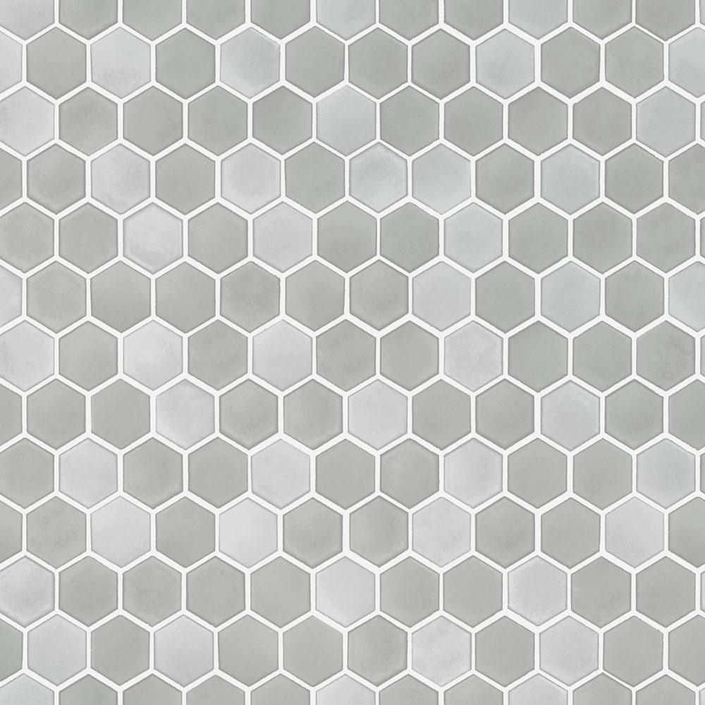 Tempaper Hexagon Tile Chrome Self-Adhesive, Removable Wallpaper TE10585