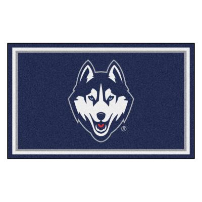 NCAA - University of Connecticut Blue 6 ft. x 4 ft. Indoor Rectangle Area Rug