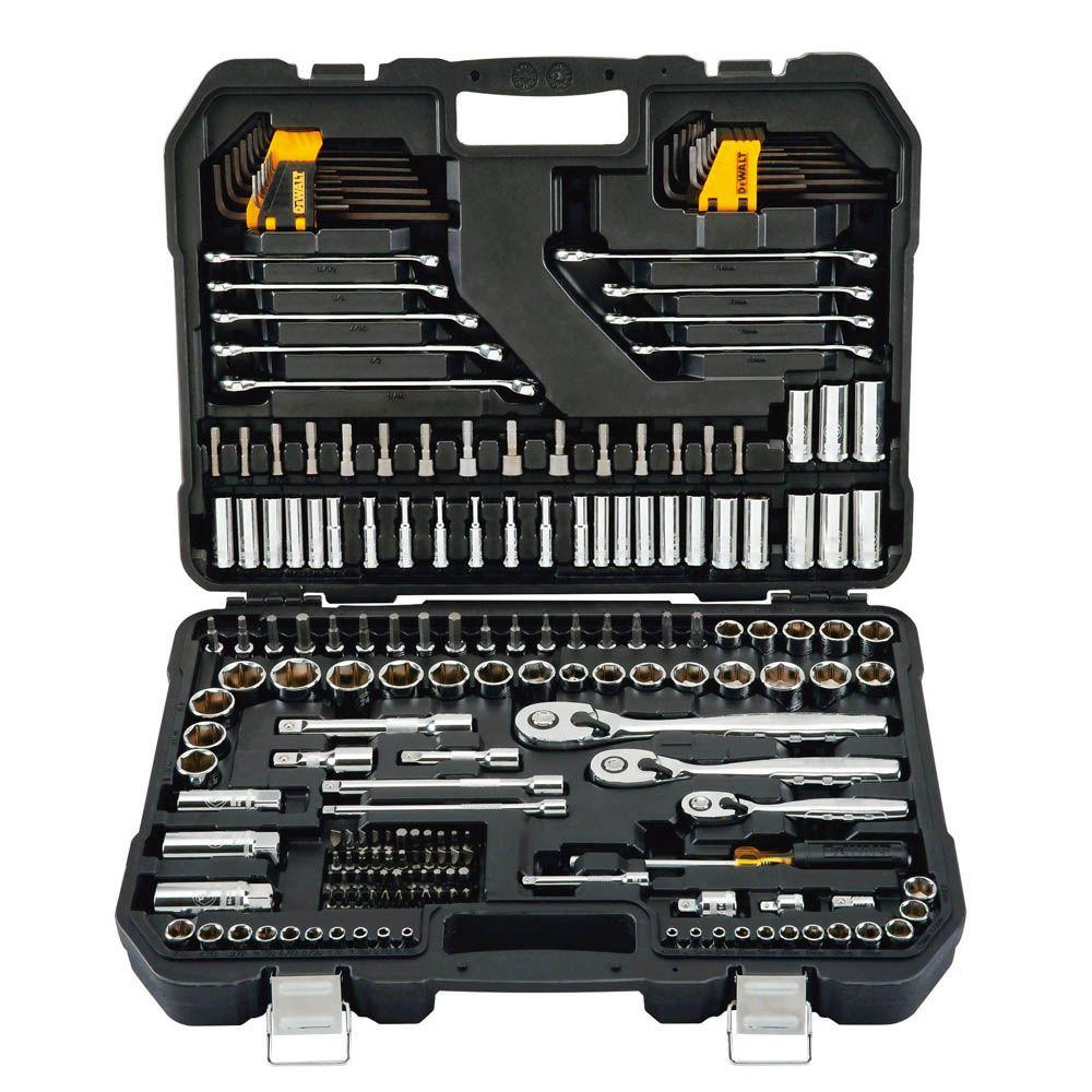 DEWALT 1/4 in. x 3/8 in. Drive Polished Chrome Mechanics Tool Set (200-Piece)