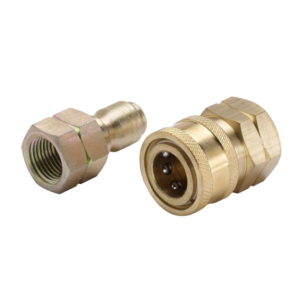 Quick Connect Fittings >> Power Care 3 8 In Male Quick Connect X Female Npt Kit For Pressure Washer