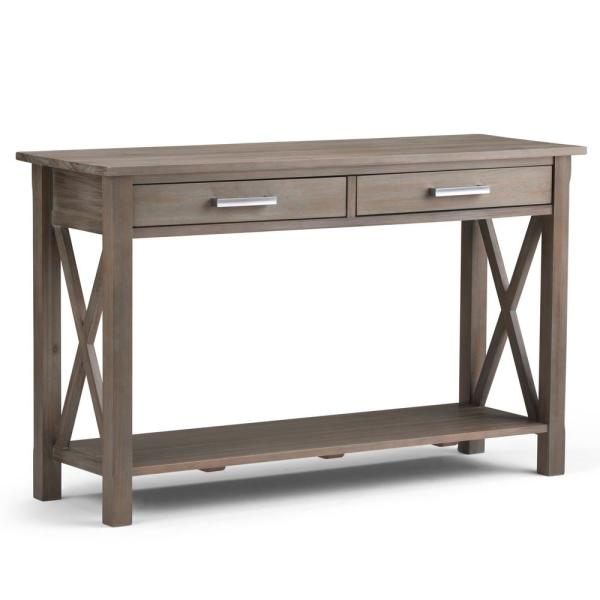 Simpli Home Kitchener Solid Wood 47 in. Wide Contemporary Console ...
