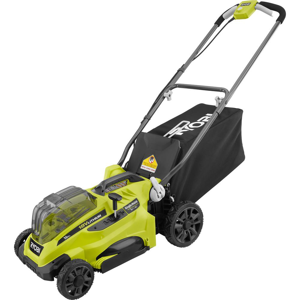 RYOBI 16 in. ONE+ 18-Volt Lithium-Ion Cordless Battery Walk Behind Push Lawn Mower (Tool Only)
