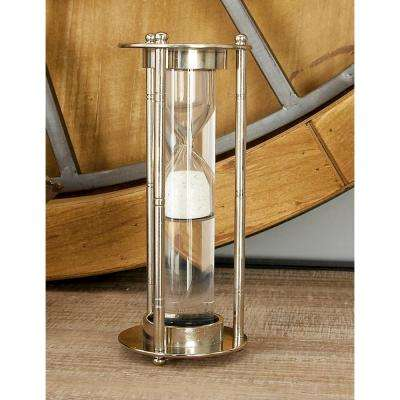 3 in. x 7 in. New Traditional Aluminum and Glass Floating Sand Timer