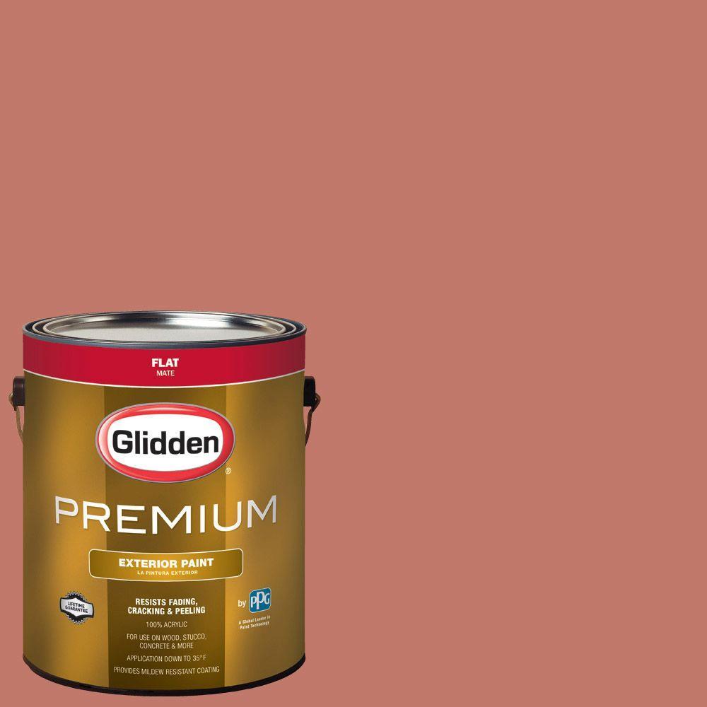 Glidden Premium 1-gal. #HDGO07 Indian Summer Orange Flat Latex ...