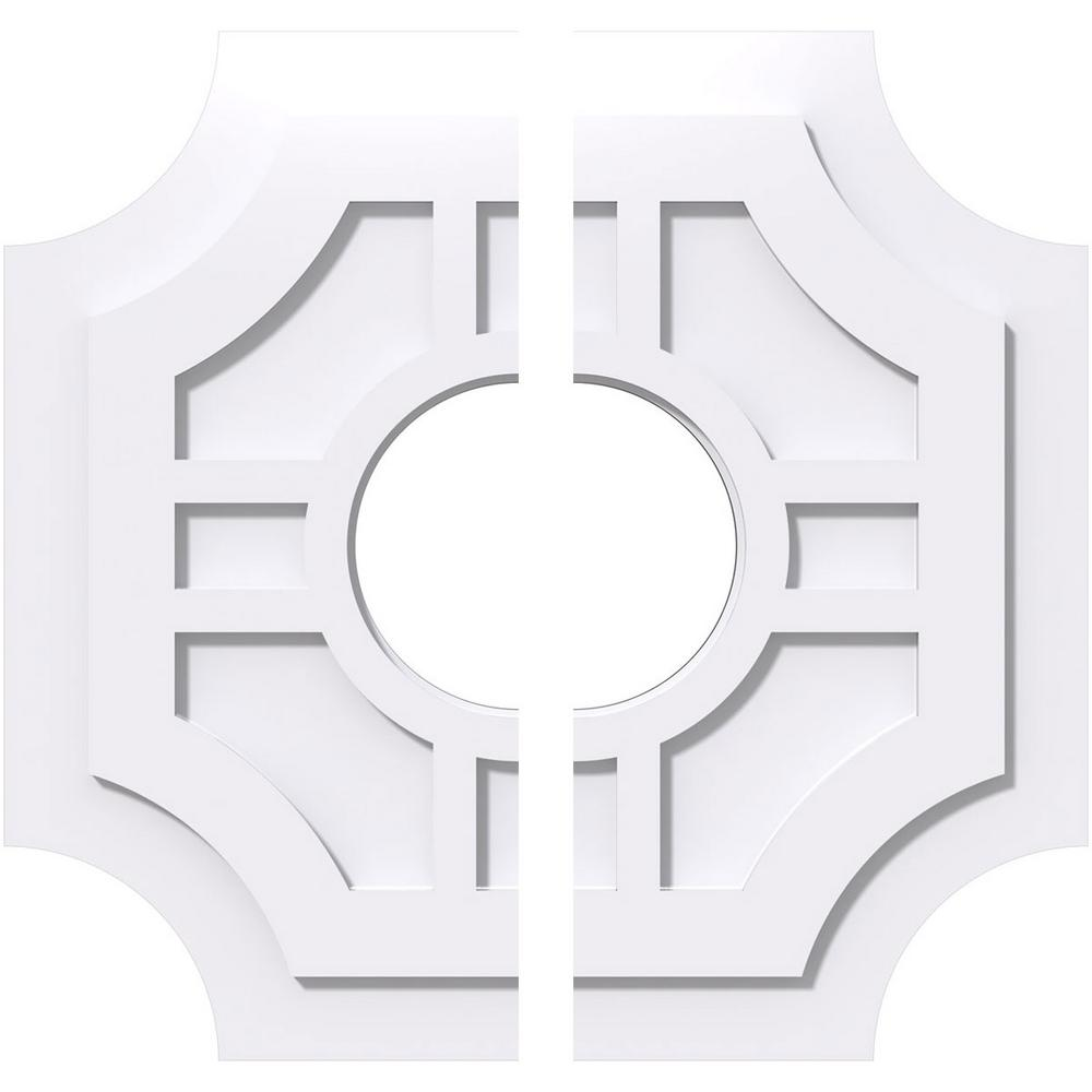 White 16W x 10 5//8H x 5ID x 5 1//2C x 1P Ekena Millwork CMP16X10DD2-05000 Ceiling Medallion