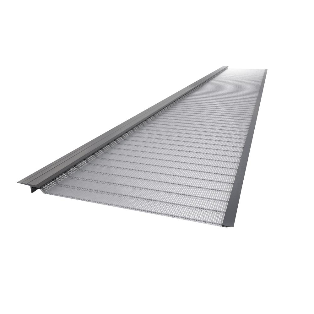 4 ft. Stainless Steel (Silver) 5 in. Micro-Mesh Gutter Gu...