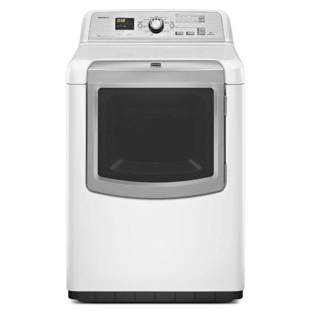 Maytag Bravos XL 7.3 cu. ft. Gas Dryer with Steam in White