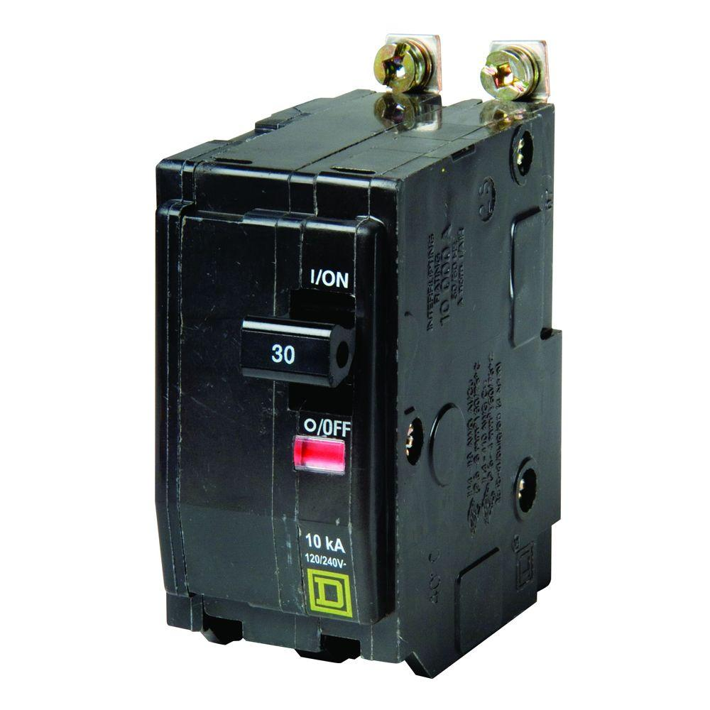 SQUARE D QO QO230 2 POLE 30 AMP CIRCUIT BREAKER black SNAP IN FLAW