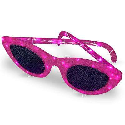 36 in. Pink Sunglasses with LED Lights