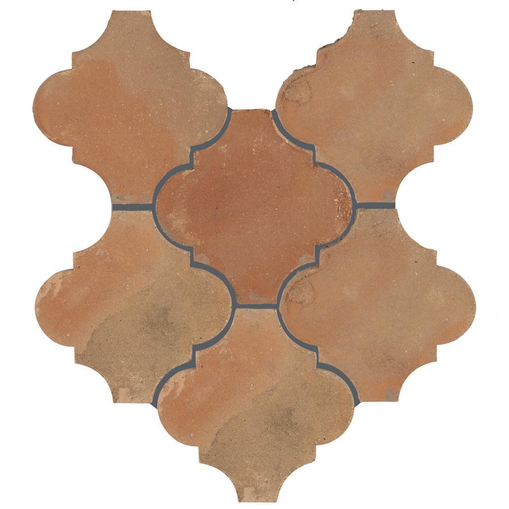 Merola Tile Trevol Lantern 6 in. x 6 in. Spanish Terra Cotta Ceramic Floor and Wall Paving Tile (1 sq. ft. / pack)