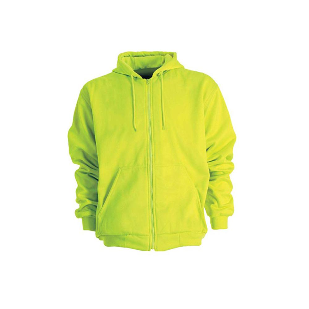a7f764ae Men's 6 XL Regular Yellow 100% Polyester Enhanced Visibility Hooded  Sweatshirt