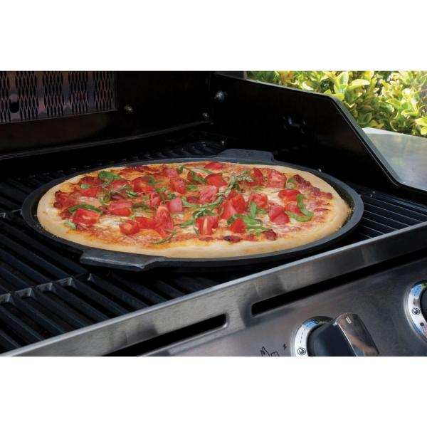 pizzacraft - 14 in. Dia Cast Iron Pizza Pan