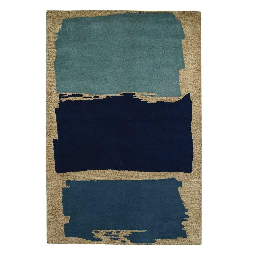 Home Decorators Collection Pop Blue 9 ft. 6 in. x 13 ft. 6 in. Area Rug
