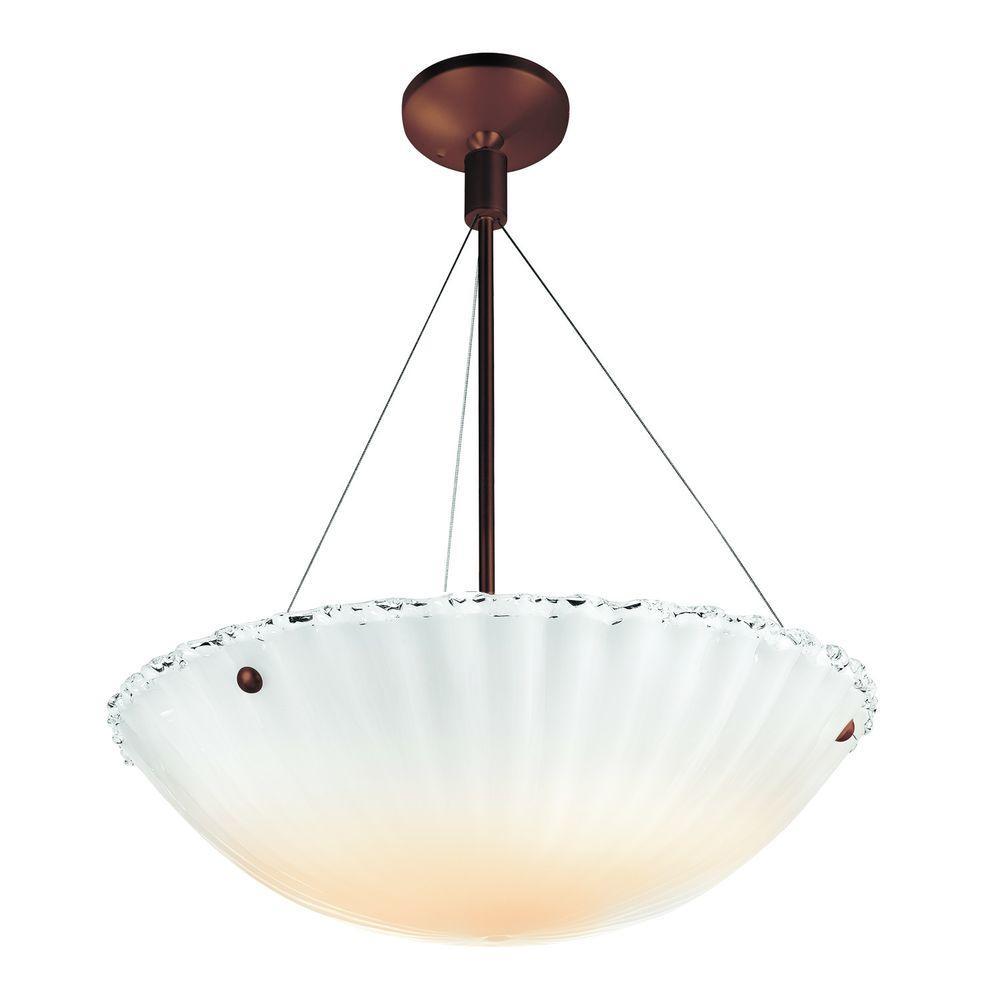 Filament Design Vista 3 Light Bronze Incandescent Semi-Flush-DISCONTINUED