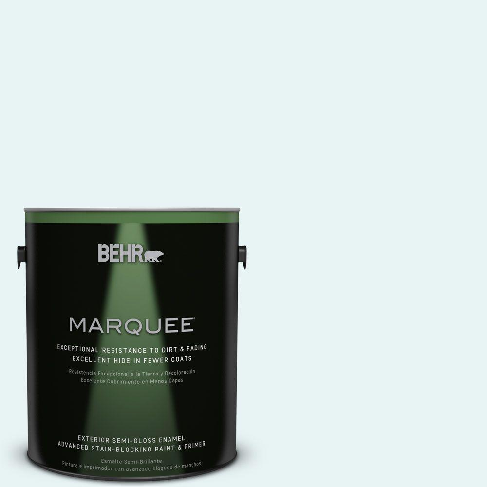 BEHR MARQUEE 1-gal. #BL-W4 Ethereal White Semi-Gloss Enamel Exterior Paint