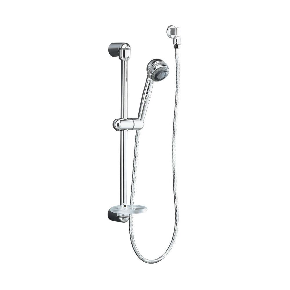 KOHLER MasterShower Hotel 3-Spray Hand Shower Kit in Polished ...
