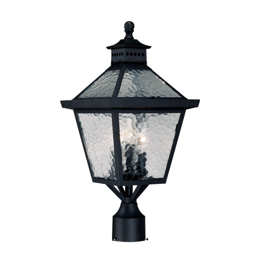 Outdoor Post Lights At Home Depot: Acclaim Lighting Suffolk 1-Light Burled Walnut Outdoor