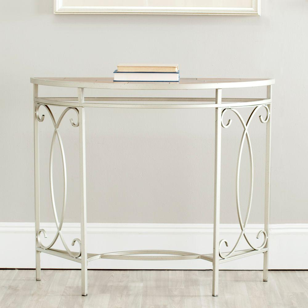 Safavieh Dawn Copper and Red Maple Console Table, Brown/R...