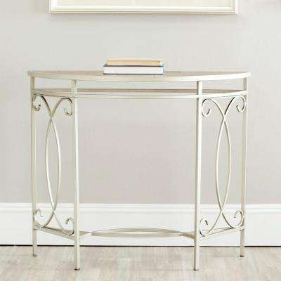 Dawn Copper and Red Maple Console Table